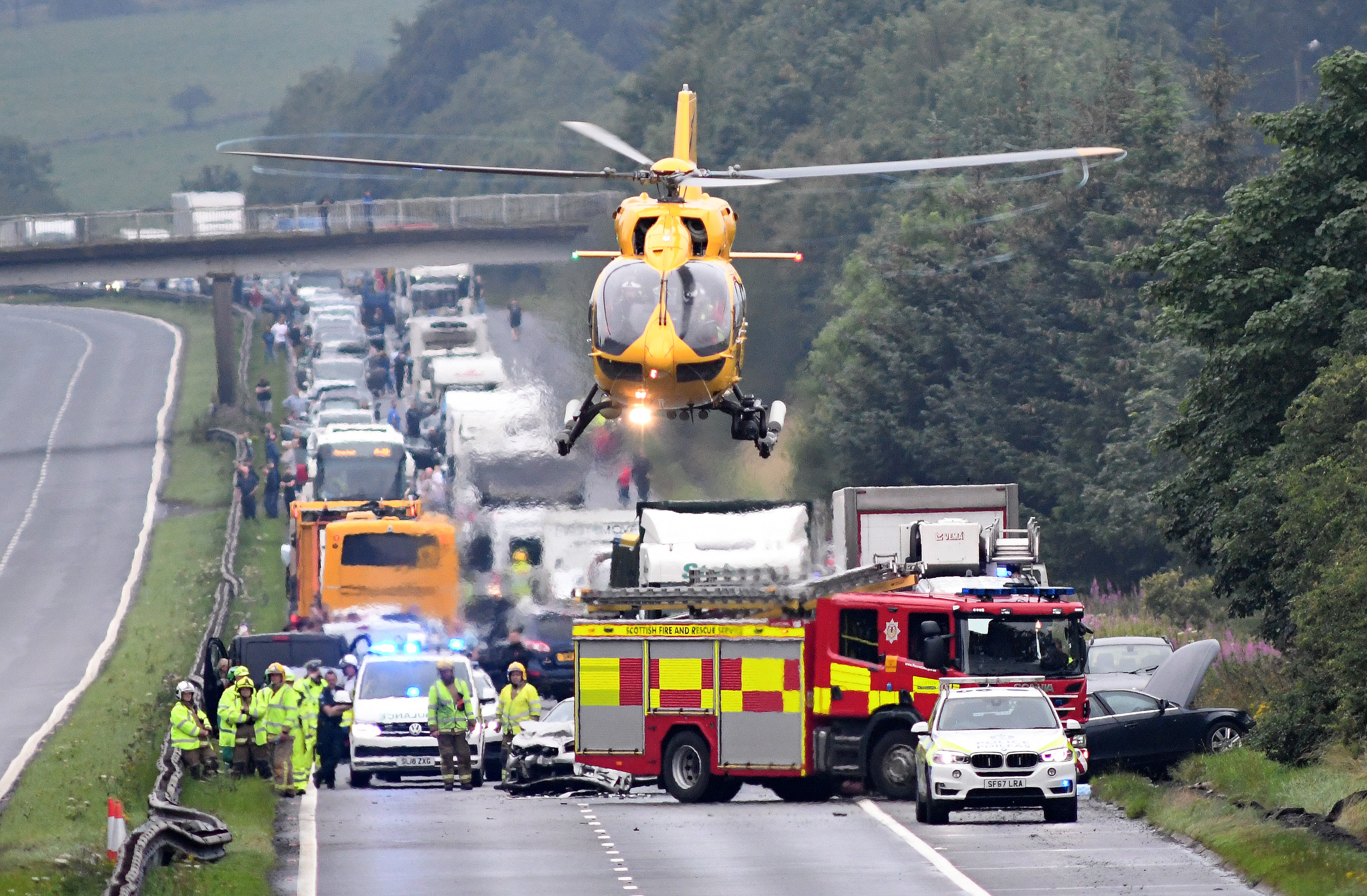 air ambulance at crash site